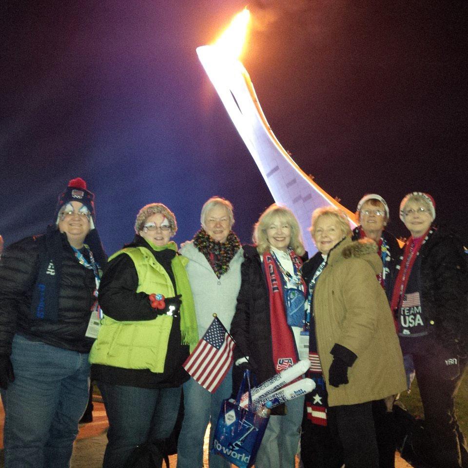 Below the Sochi Olympic Flame